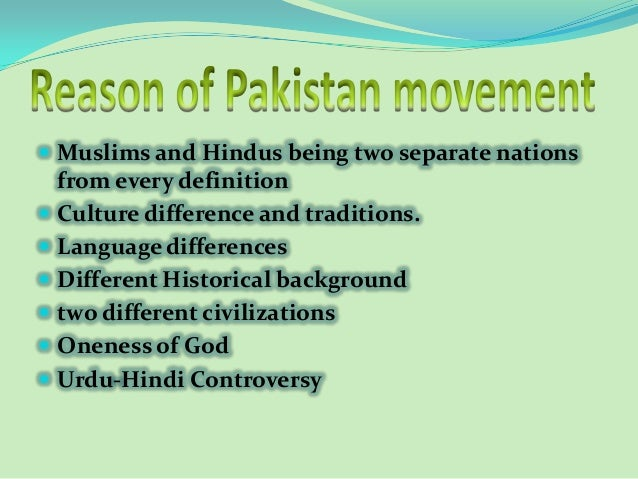 the history books on the independence movements of the muslims in pakistan Pakistan was formed out of british territorial domination of india (british raj) there is a lot of interesting history, but i think the most relevant issue is the one that separated india from pakistan.