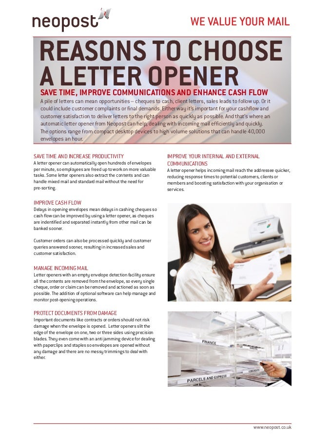 reasons to choose a letter opener save time improve communications and enhance cash flow a