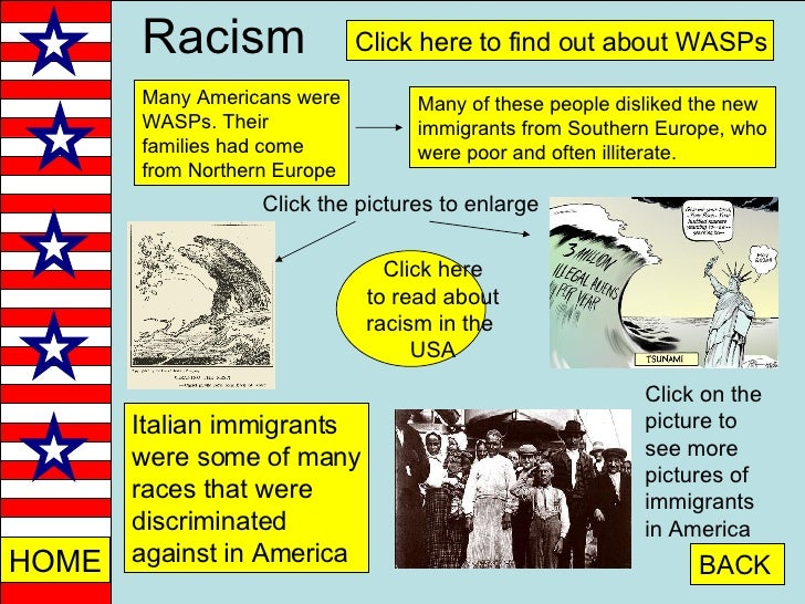 racism towards immigrants 11 facts about discrimination and poverty in the latino community welcome to dosomethingorg , a global movement of 6 million young people making positive change, online and off the 11 facts you want are below, and the sources for the facts are at the very bottom of the page.