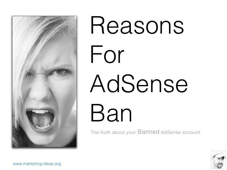 Reasons                          For                          AdSense                          Ban                        ...
