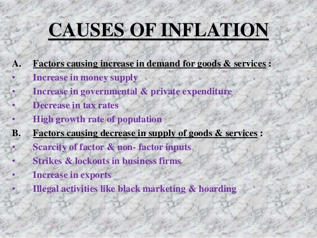 causes of inflation in india