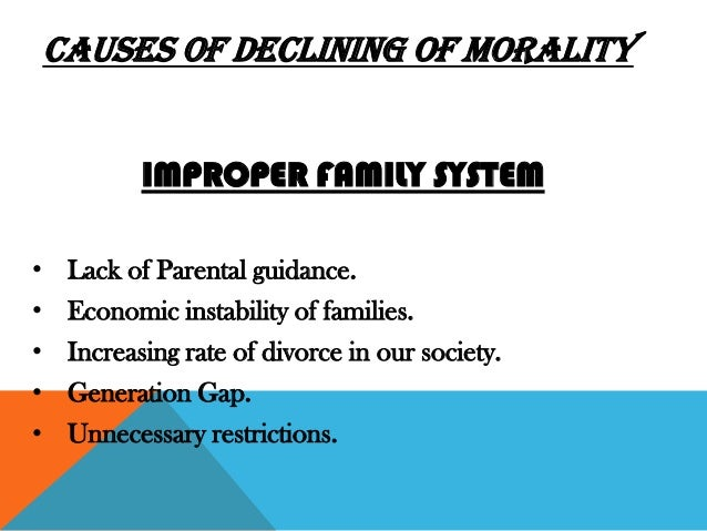moral degradation among youth