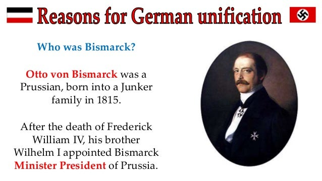 important bismarck german unification essay Below is an essay on bismarck and german unification up to 1871 from anti essays, your source for research papers, essays, and term paper examples bismarck and german unification extended.