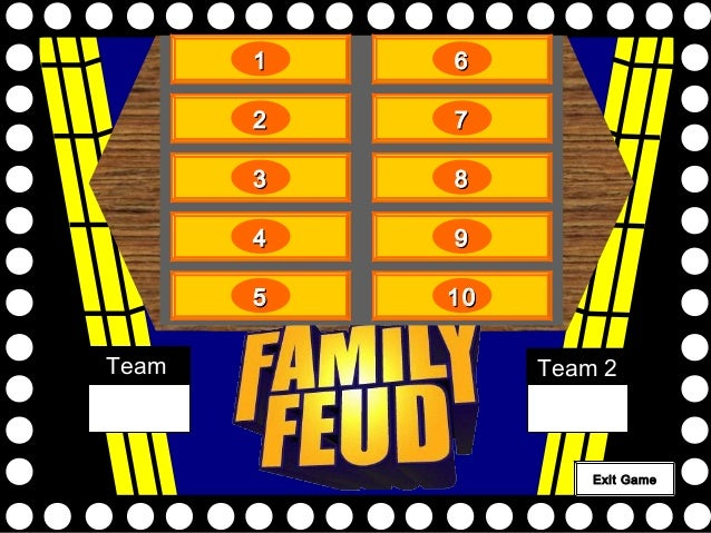 Family Feud Powerpoint Forteforic