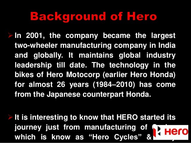 A Case Study : Reasons for separation of Hero Honda