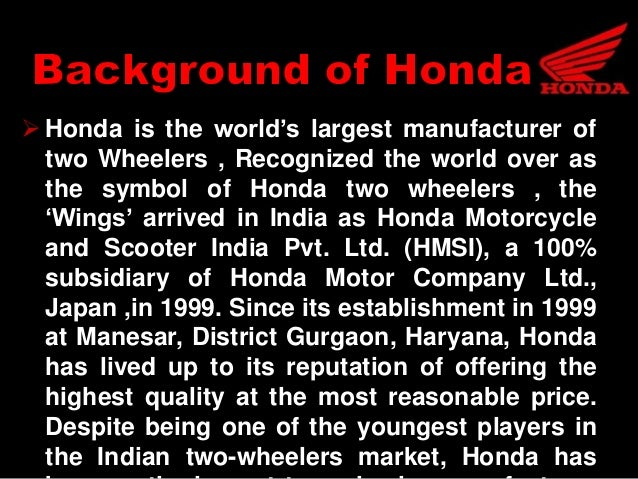 A Case Study Reasons For Separation Of Hero Honda