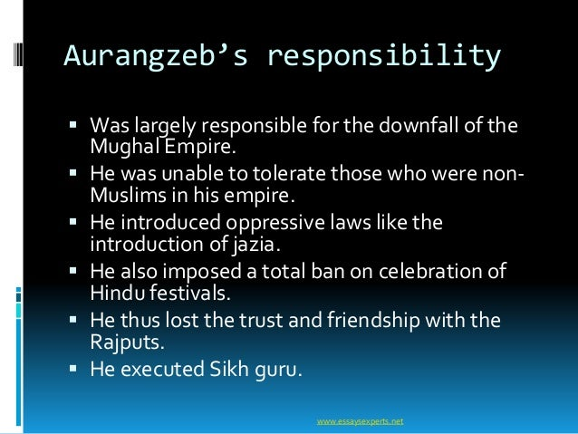 decline of mughal empire After aurangzeb, none of the mughal could handle the empire they were either  weak and inefficient or were bound by the circumstancestherefore the mighty.