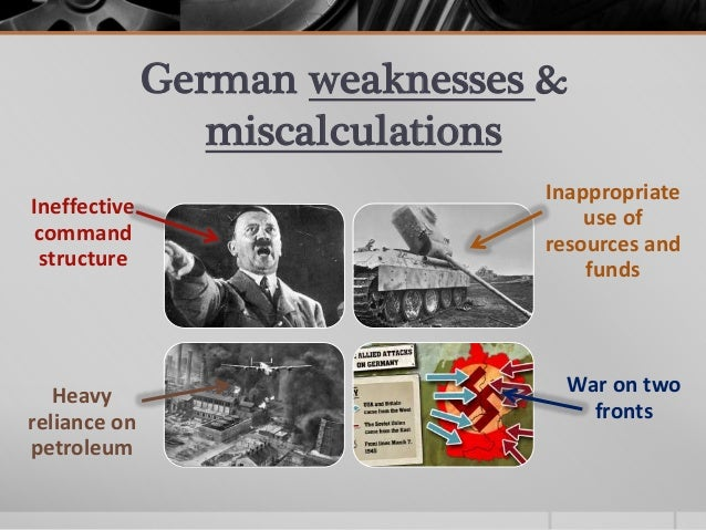 analyse the reasons for germanys defeat The british blockade of germany in wwi was one of the primary reasons for germany's defeat why did the same seemingly not happen in wwii what are the real reasons / motivations for japan and germany's attack of the west in wwii.