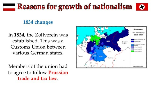 Map Of Zollverein Germany.Reasons For The Growth Of German Nationalism Zollverein