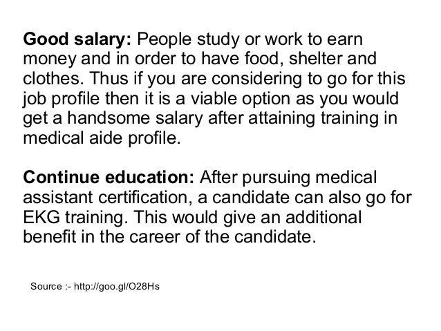 medical assistant good career