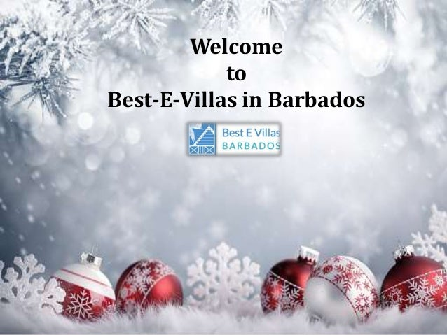 Welcome to Best-E-Villas in Barbados