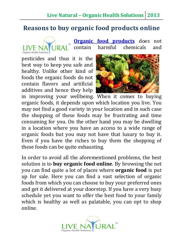 how to buy organic food