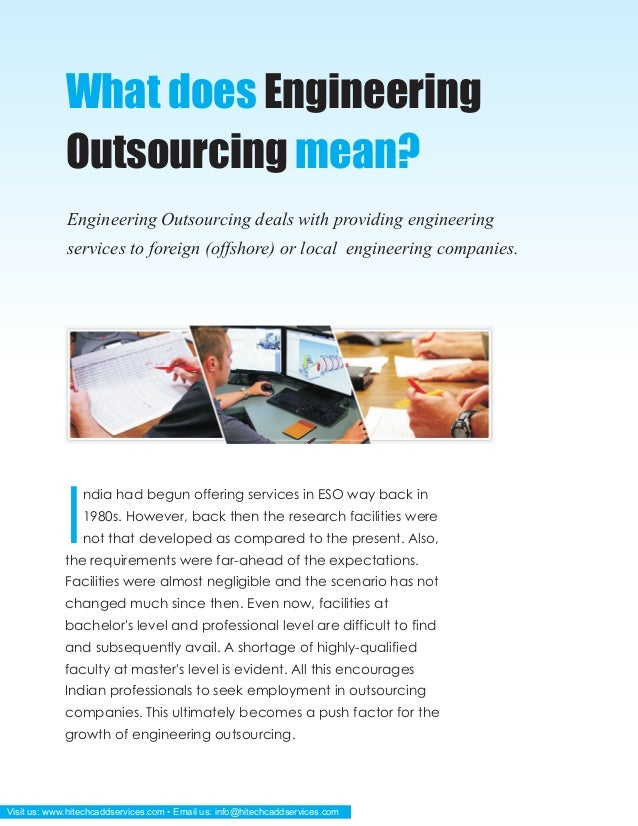 Reasons to choose india for engineering outsourcing