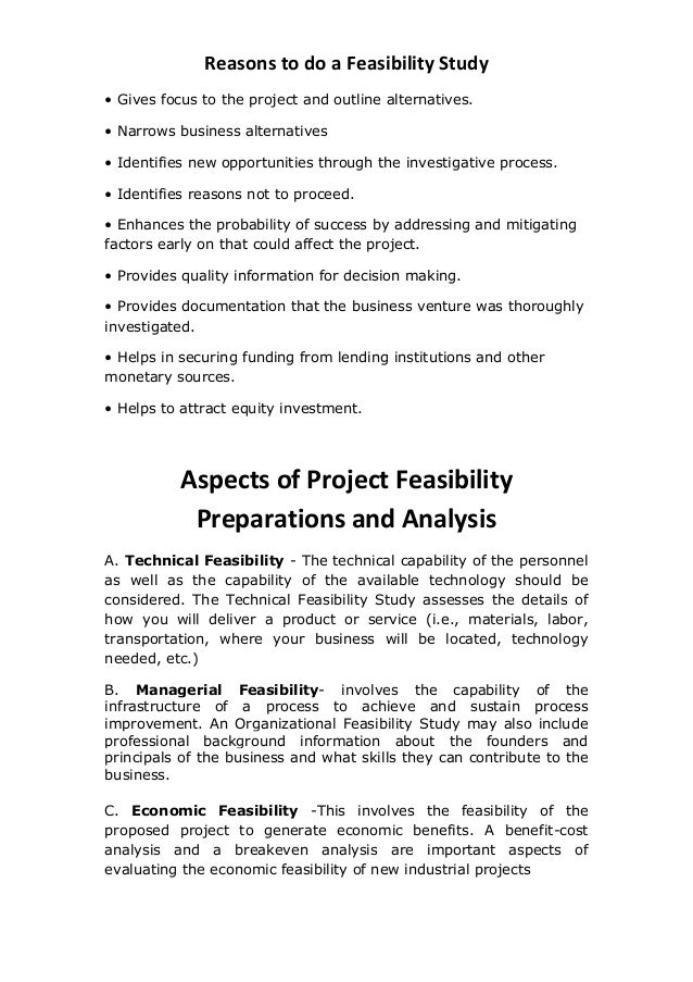Feasibility Studies and Business Case Analyses