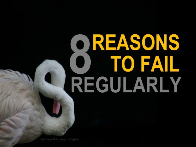 TO FAIL REGULARLY REASONS 8 https://www.flickr.com/photos/gidzy/