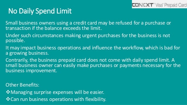 Reasons To Get A Business Prepaid Card For Your Small Business Financ
