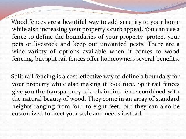 Reasons to Get a Split Rail Fence Slide 2