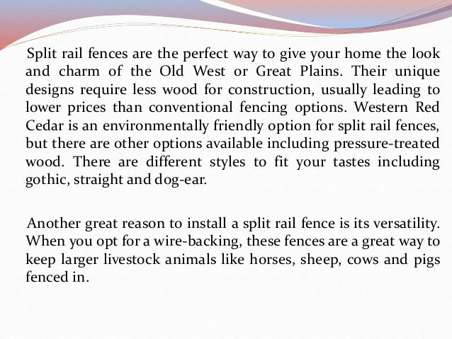 Reasons to Get a Split Rail Fence Slide 3