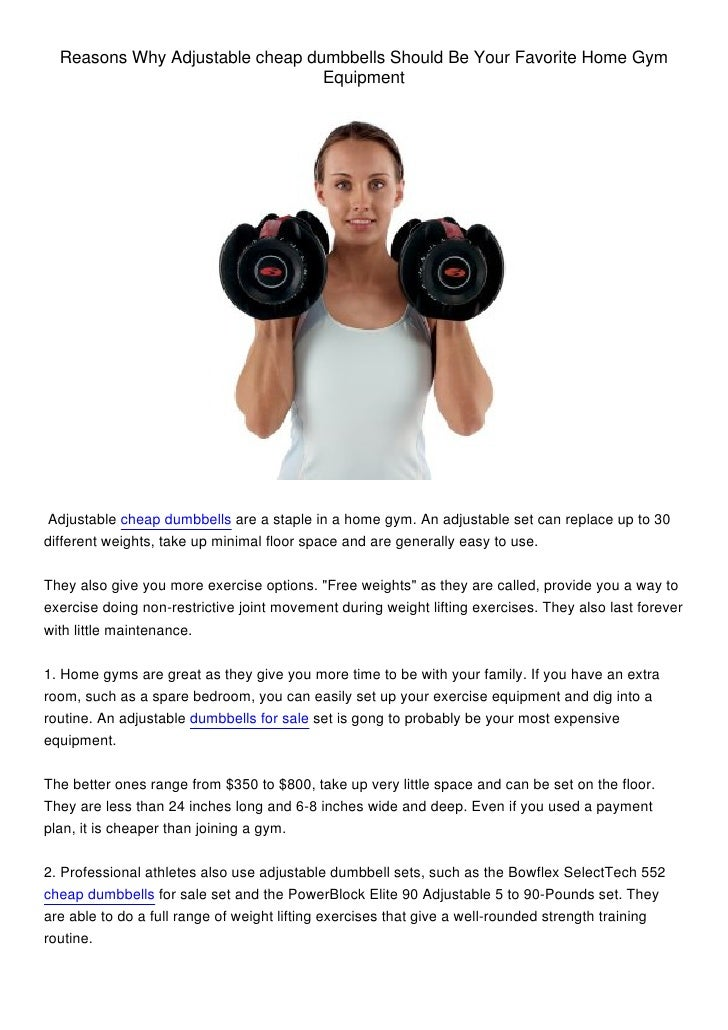 Can at Home Dumbbell Workouts Replace Fitness center Machine