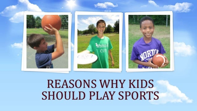 Top 5 Reasons Why Children Should Play Sport