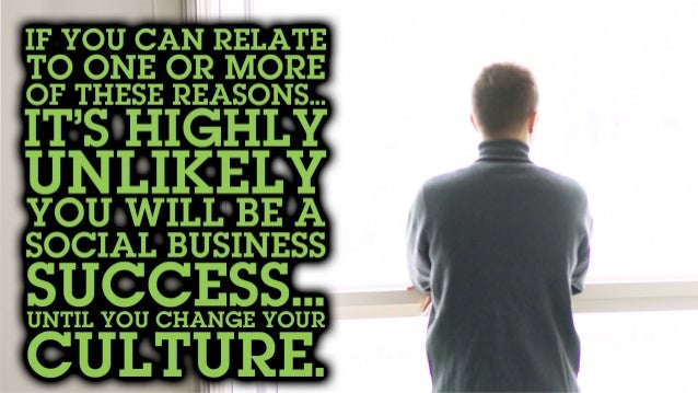 If you can relate to one or more of these reasons… It's highly unlikely you will be a social business success… Until you c...