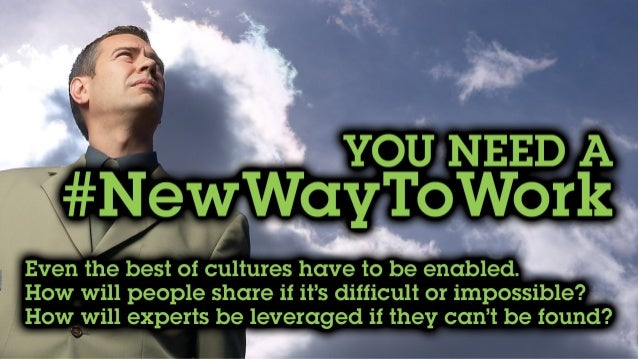 You need a #NewWayToWork Even the best of cultures have to be enabled. How will people share if it's hard or impossible? H...