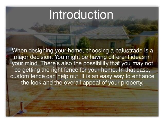 Reasons You Should Request a Custom Fence Design Slide 2
