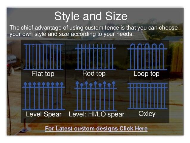 Reasons You Should Request a Custom Fence Design Slide 3
