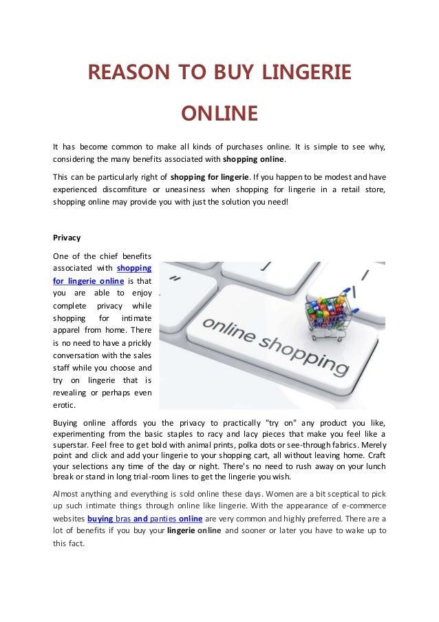 43313c1629 Reason to buy lingerie online