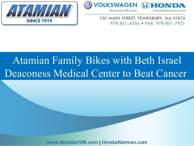 Atamian Family Bikes with Beth Israel Deaconess Medical Center to Beat Cancer www.AtamianVW.com | HondaAtamian.com