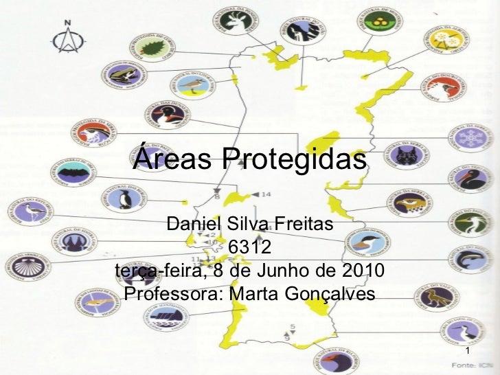 Áreas Protegidas Daniel Silva Freitas 6312 terça-feira, 8 de Junho de 2010 Professora: Marta Gonçalves
