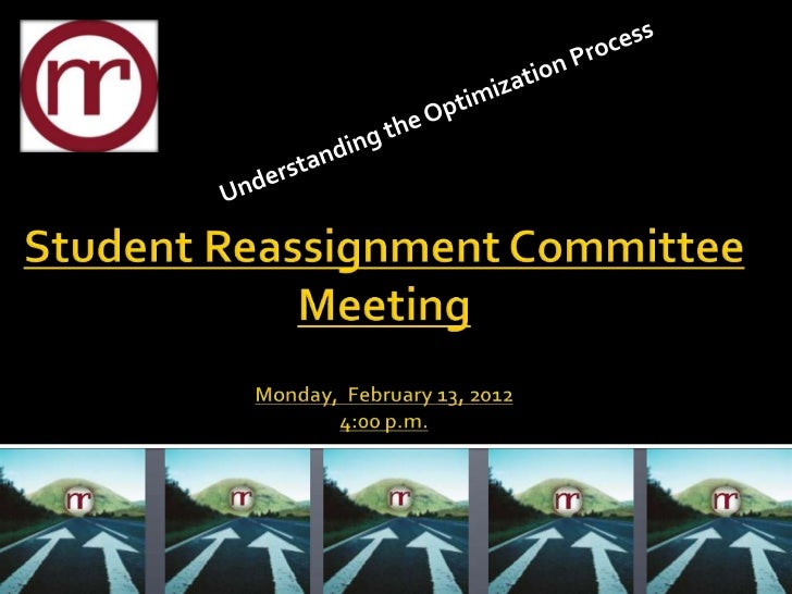 STUDENT REASSIGNMENT COMMITTEE MEETING                                     Media Center, Nash Central High School         ...