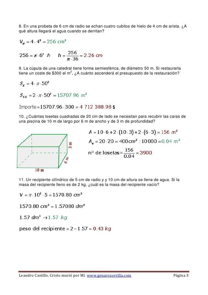 Areas y vol menes for Calcular volumen piscina