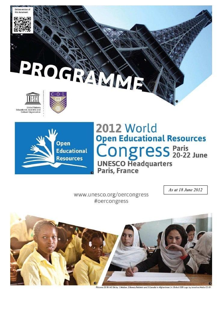 Programação Congresso Mundial REA