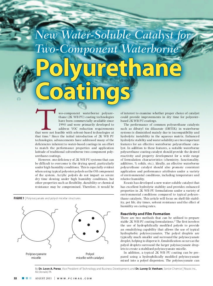 New Water-Soluble Catalyst for                  Two-Component Waterborne                  Polyurethane                  Co...