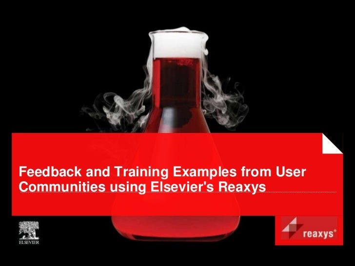 Feedback and Training Examples from UserCommunities using Elseviers Reaxys