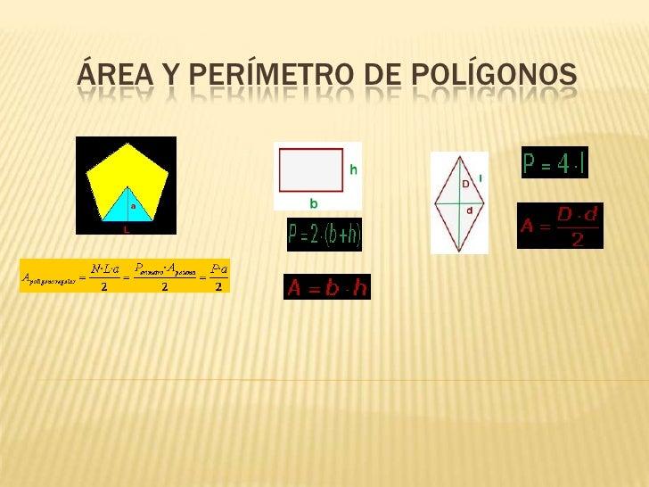 Área y perímetro de polígonos<br />