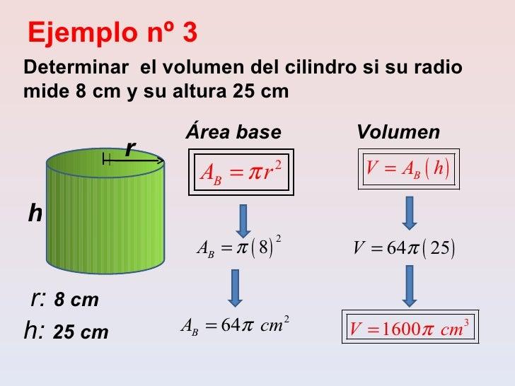 Area Y Volumen De Cilindros