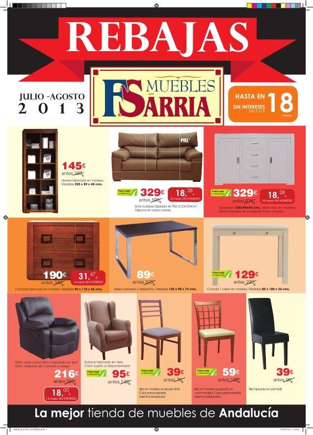 Rebajas verano 2013 muebles s rria sevilla y c rdoba for Muebles sarria sevilla catalogo