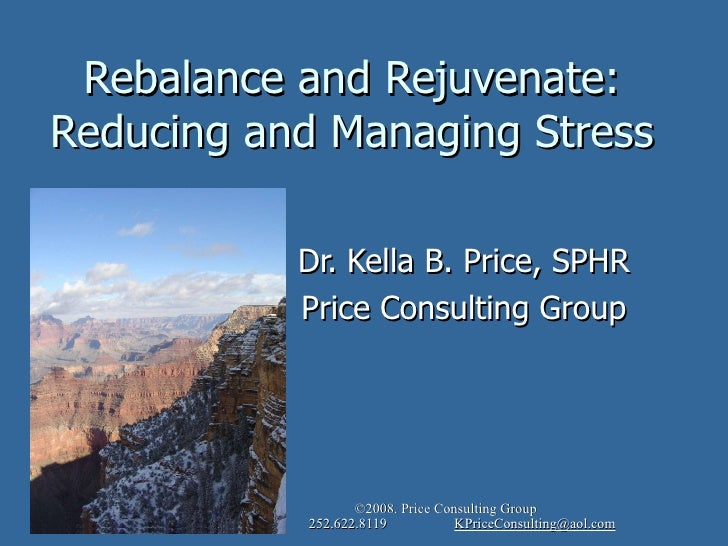 ©2010 Price Consulting Group www.thepriceconsultinggroup.com 252.622.8119 KPriceConsulting@aol.com<br />Rebalance and Reju...