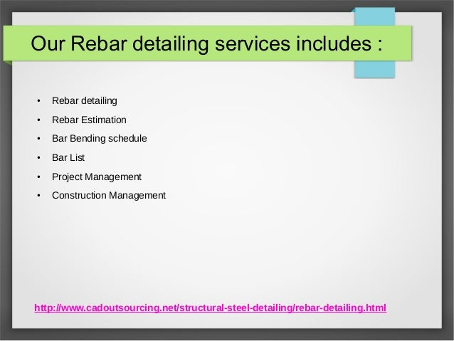 Rebar Detailing Services - CAD Outsourcing