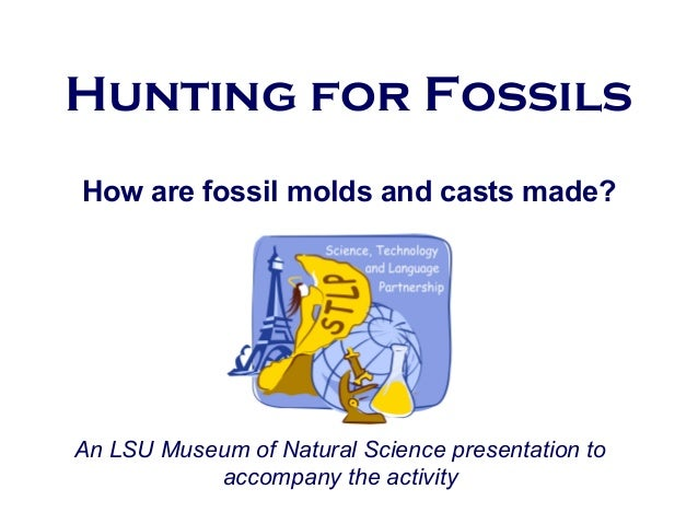 Hunting for Fossils How are fossil molds and casts made? An LSU Museum of Natural Science presentation to accompany the ac...