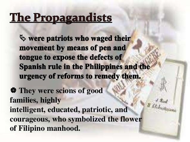 philippines propaganda movement The propaganda movement was a period of time when native filipinos were calling for reforms representation of the philippines in the cortes generales.