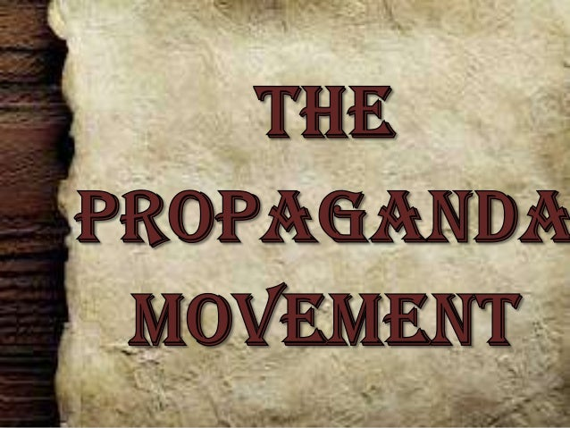 propaganda movement One of the most notable anti-semitic propaganda movements to develop over the past two decades has been the organized effort to deny or minimize the established.
