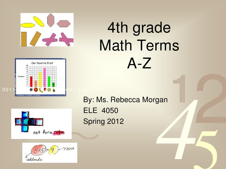 4th grade                               Math Terms                                   A-Z0011 0010 1010 1101 0001 0100 1011...