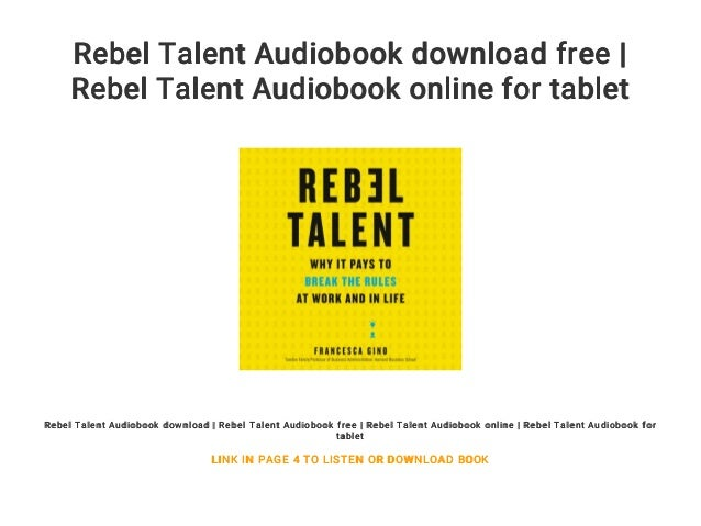 Rebel Talent PDF Free Download