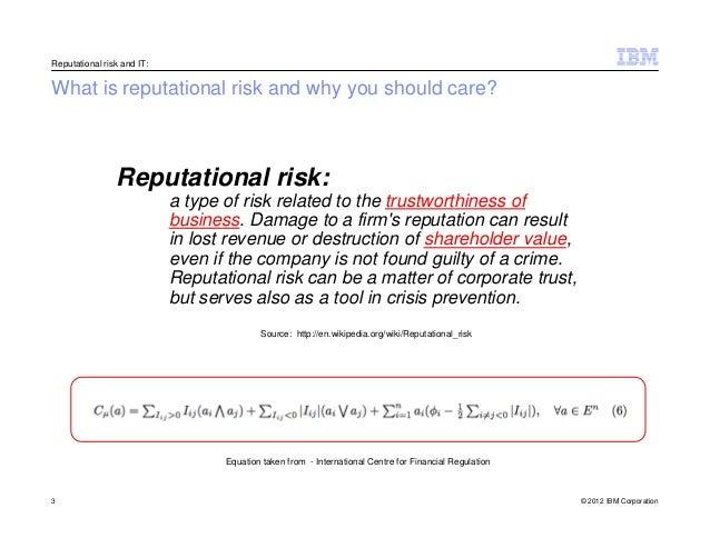 IBM Reputational risk study | HTML Content | Strategic ...