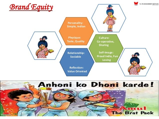 amul brand equity According to the brand equity survey — most trusted brands, amul has  improved upon its ranking from 29th in 2016 to 14th in 2017 amul has.