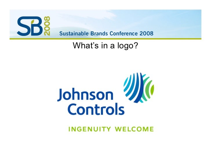 Rebranding for Sustainablility - Johnson Controls