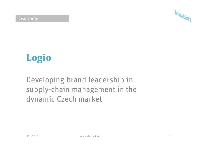 Casestudy         Logio      Developing brand leadership in     supply chain     supply-chain management in the     dynam...